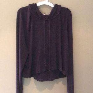 John Gelt /Brandy Melville cropped maroon sweater